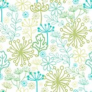 Mysterious green garden seamless pattern background