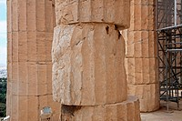Greece, Athens, Acropolis, UNESCO World Heritage Site, detail