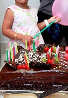 birthday cake at party