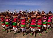 Rendille And Turkana Tribes Dancing Together During A Festival, Turkana Lake, Loiyangalani, Kenya.
