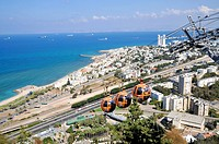 Israel, Haifa, the Stella Maris cable car station