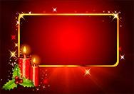 red background with candle