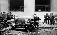 Photograph taken at the Wall Street terrorist bombing, New York. Dated 1920