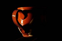Romantic feelings concept heart sha