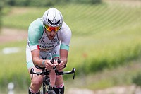 20.06.2015, Moselle, LUX, IRONMAN 70.3 Luxembourg, im Bild Alessandro Degasperi (Italy) // during IRONMAN 70.3, Luxembourg at Moselle, Luxembourg on 2...
