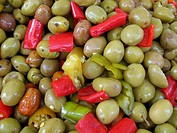 olives and hot peppers