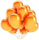 Orange helium balloons decoration