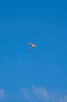 Parachutist in flight