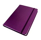 silk purple cover notebook isolated on white background