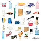 objects collection isolated on whit