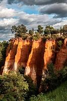 Ochre quarry in Roussillon, France.