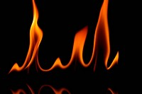 Grainy fire flames