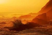 Sunset Rocks and Sea