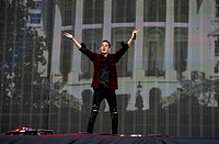 G-Eazy (Gerald Earl Gillum or Young Gerald)an American rapper, songwriter and producer live on stage at Wireless 10 Festival in Finsbury Park, London ...