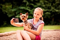 Capturing moments child and dog