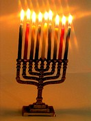 Lit Menorah star fil