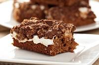 Homemade Chocolate Marshmellow Brownies