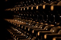 (150709) -- MENDOZA, July 9, 2015 () -- Image taken on June 26, 2015 shows wine bottles of Malbec Reserve 2005 in the wine-cellar of the Tierras Altas...