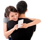 woman hug her boyfriend