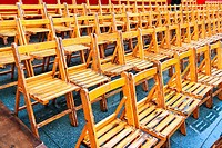 empty chairs at events due to rain
