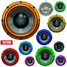 Set of Colorful Sound Load Speakers