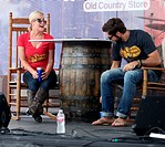 Cracker Barrel Old Country Store Country Checkers Challenge During ACM Party for a Cause Festival in Globe Life Park in Arlington, Texas Featuring: Ke...