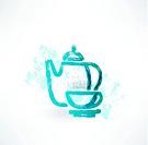 tea set grunge icon