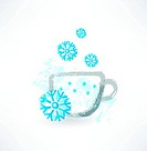 winter cup grunge icon
