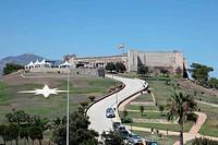 Fortress Castillo de Sohail in Fuengirola, Andalusia Spain