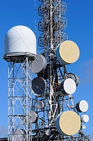 Communications tower.Montánchez.Cáceres province.Extremadura.Spain