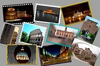 Rome. Collage of photos