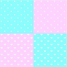 Dots and Hearts Seamless Patterns