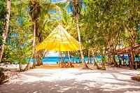 Perfect tropical beach in exotic resort