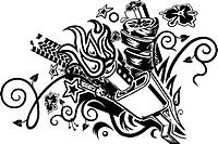 muffler explosion tattoo