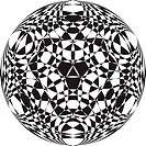 Pseudo tridimensional ball abstract background 3