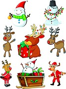 A set of christmas designs