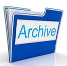 Archive File Indicating Archiving Backup And Catalogue