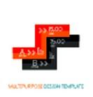 Business stripes presentation design template