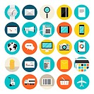E-commerce and shopping flat icons