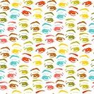 seamless background with eyes, endless eye pattern