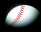 baseball ball on black