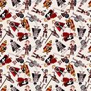 seamless Knight pattern
