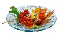 Glass dish deco