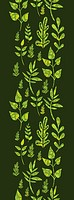 Textured green Leaves Vertical Seamless Pattern Background