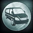 Van round sign