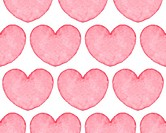 Seamless pattern with water color hearts.
