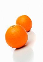 A pair of oranges