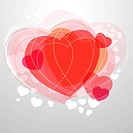 Red modern heart on light grey background