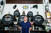 Traditional sherry and tapas bar - Bar Tabanco in Jerez, Andalusia, Spain. sherry wines are sold from the barrel.