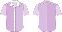 Collar Dress Shirt In Violet Color Tones